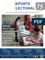 Reporte Electoral Nº 75