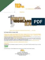 1^ Kenya Highlands Race Programma
