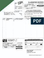 News-Record Invoice 2013 tax delinquency bill