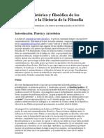 Contexto histórico y filosófico de los autores de la Historia de la Filosofía