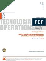 Execuitve Program Operations Manufacturing Management