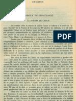 Cronica Internacional La Muerte de Camus Vol.2 No.7