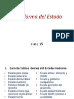 Clase 15 - Reforma Del Estado - Una Tarea Pendiente