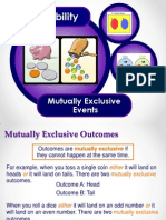 mutually exclusive outcomes mreadams