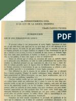 Gutierrez. Claudio - El Consentimiento Civil a La Luz de La Logica Moderna