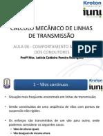 UNID 03 - Aula 6 -  CONCEITOS BÁSICOS SOBRE PROJETOS DE LINHAS DE TRANSMISSÃO