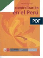 Informe Del Proceso de Descentralizacion 2007 - 2008