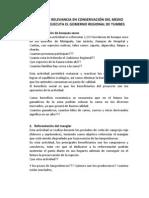 PROYECTOS DE RELEVANCIA EN CONSERVACIÓN DEL MEDIO AMBIENTE QUE EJECUTA EL GOBIERNO REGIONAL DE TUMBES
