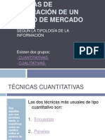 TÉCNICAS DE ELABORACIÓN DE UN ESTUDIO DE MERCADO