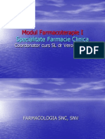 Farmacoterapie Modul I 2010-2011