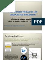 PROPIEDADES FÍSICAS DE LOS COMPUESTOS ORGÁNICOS