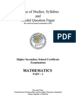 Mathematics Title, Table of Contents, Foreward Preface