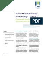 Elementos Fundamentales de La Estrategia Corporativa