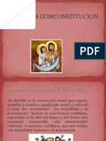 La Familia Como Institucion Social