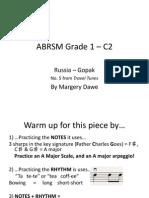 ABRSM Violin Grade 1 2012-2015 C2 Russia Gopak PRACTICE NOTES