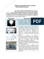 INSTRUMENTACIÓN Y ACCESORIOS PARA LA PLANTA PURIFICADORA DE AGUA