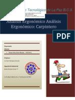 Ergonomia analisis carpintero