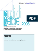 tg41u 2008 studi settore