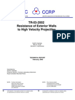 Resistance of Exterior Walls to High Velocity Projectiles – Technical Report - CPRC