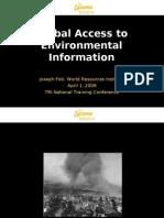 Global Access to Environmental Information - Joseph Foti