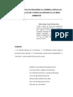 FUNDAMENTAÇÃO FILOSÓFICA-PENAL DA CRIMINALIZAÇÃO DE CONDUTAS OFENSIVAS AO MEIO AMBIENTE