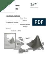 Reporte de Comunicaciones Tutorial Matlab