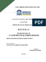 Referat - Pedeapsa in Tarile Romane - Tarnauceanu Cristian Iasi - Master UMK
