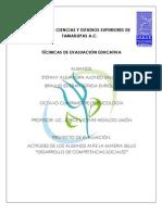 """ACTITUDES DE LOS ALUMNOS ANTE LA MATERIA SELLO """"DESARROLLO DE COMPETENCIAS SOCIALES"""""""