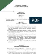 Projecto de Lei Geral Da Publicidade