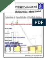 Practica 4. Termodinámica del Equilibrio Químico. Reaccion Reversible