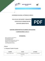 Auditoria Administrativa en Gomnor, Instalaciones y Construcciones s.a. de c.V.