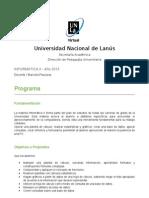 Programa analítico Informática II - 2013 - Piazzese