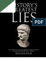 Weir, William - History's Greatest Lies