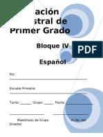 Plan - 1er Grado Bloque 4 Espa¦ol