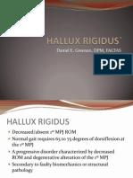 Hallux Rigidus-Daniel Greenan
