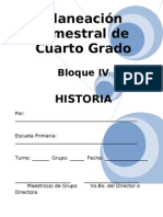 Plan - 4to Grado Bloque IV - Historia
