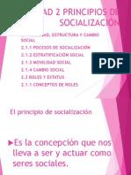 UNIDAD 2 PRINCIPIOS DE SOCIALIZACIÓN