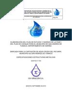 ESPECIFICACIONES METALICAS  270910