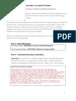 4-Constraints Assessment Worksheet