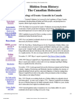 Hidden From History_ the Canadian Holocaust - Chronology of Events