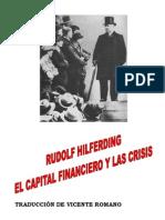 Hilferding El Capital Financiero y Las Crisis