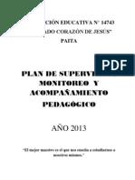 Plan de Monitoreo Scj 2013