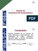Aula 01- Arquitetura de Computadores