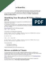 WifiDocs Driver Bcm43xx