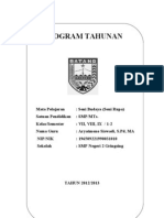 PROGRAM TAHUNAN SENI BUDAYA  SMP N 2 GRINGSING 2012/2013