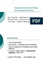 Perspectives on the Use of TRI Data & Information - Mark Stephan
