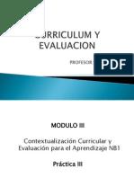Curriculum y Evaluacion 1