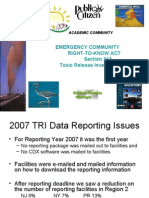 Reduction in TRI Reporting Facilities - Andy Opperman