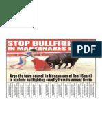 Stop the bullfighting in Manzanares el Real