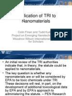 TRI & Nanotechnology - Colin Finan & Dr. Todd Kuiken